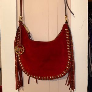 Authentic Michael Kors fringe crossbody bag!!